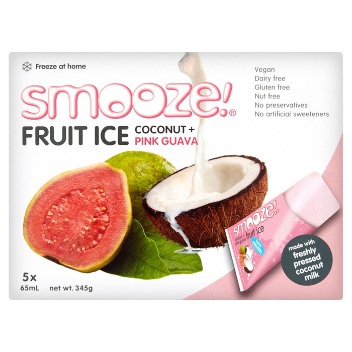 Smooze! Fruit Ice Coconut + Pink Guava 5 x 65ml