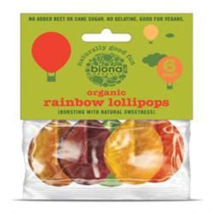 Biona Organic Fruit Lollies 6 Lollipops