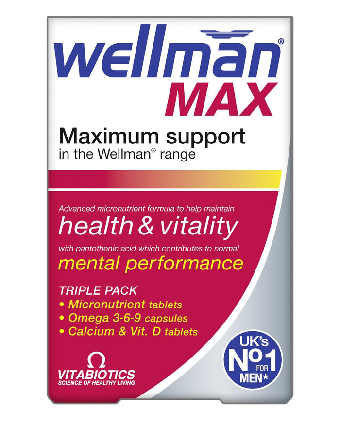 Vitabiotics Wellman Max 84 Tablets