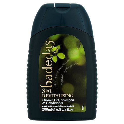 Badedas 3 in 1 Revitalising Shower Gel, Shampoo & Conditioner 200ml