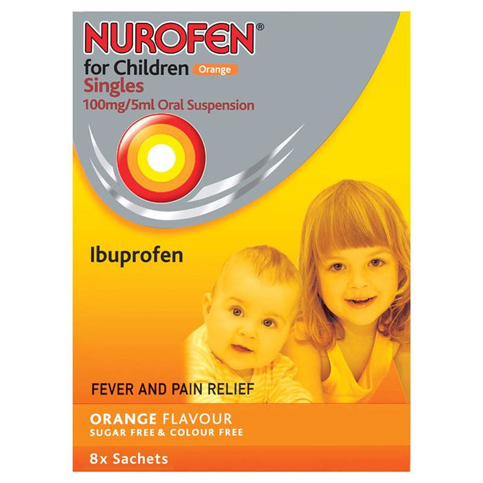 Nurofen for Children Orange Singles 8x