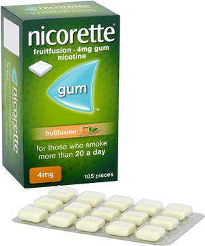 Nicorette FruitFusion Flavour Chewing Gum (Stop Smoking Aid)