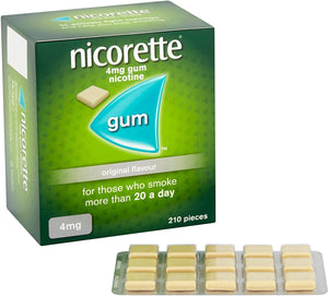 Nicorette Original Flavour Chewing Gum (Stop Smoking Aid)
