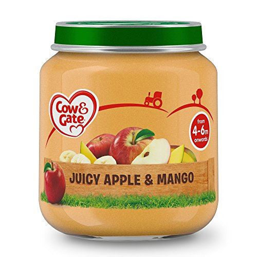 Cow & Gate Jar Juicy Apple And Mango 125g