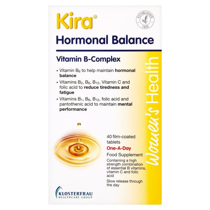 Kira Hormonal Balance Vitamin B-Complex One-A-Day 40 Film-Coated Tablets