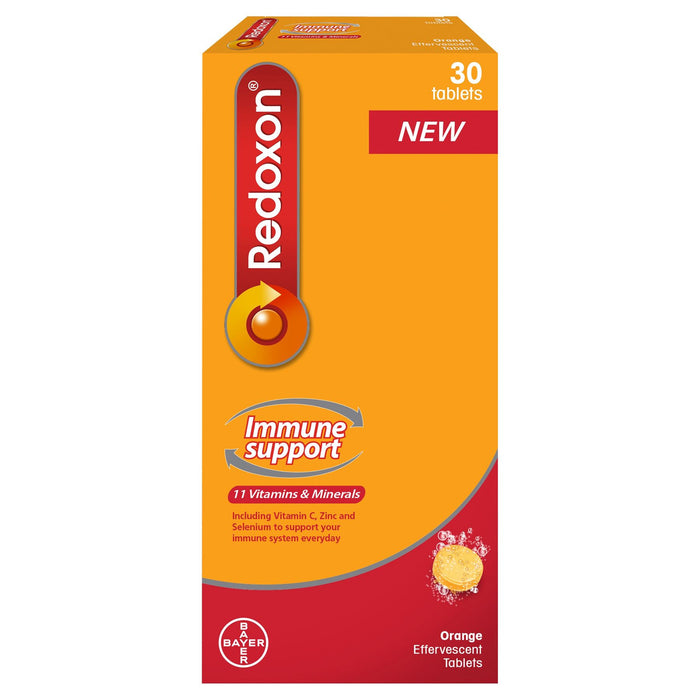 Redoxon Immune Support 30 Orange Effervescent Tablets