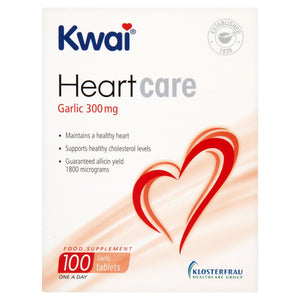 Kwai Heart Care Garlic 300mg 100 One a Day Tablets
