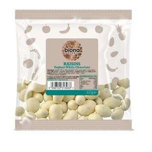 Biona Organic White Chocolate Raisins 60g