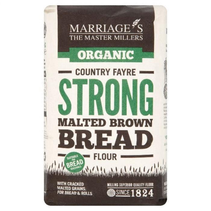 Marriage's Organic Country Fayre Strong Malted Brown Bread Flour 1kg
