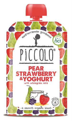 Piccolo Pear Strawberry & Blackberry Yoghurt 100g