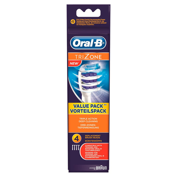Oral-B TriZone Electric Toothbrush 4 Replacement Head