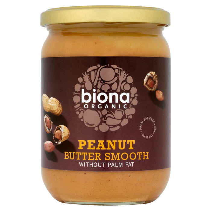 Biona Organic Peanut Butter Smooth 500g