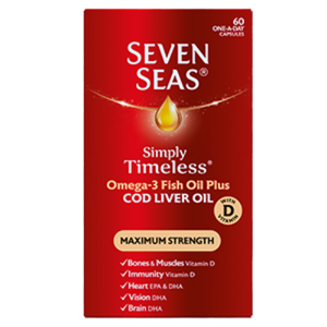 Seven Seas Cod Liver Oil Maximum Strength 60 Capsules