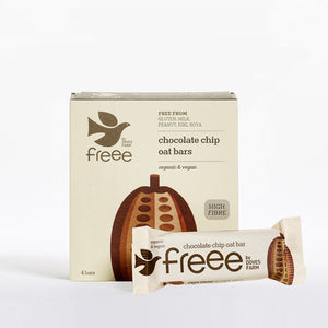 Freee by Doves Farm Gluten Free Organic Chocolate Chip Oat Bars 4 x 35g
