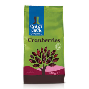 Crazy Jack Organic Cranberries 100g