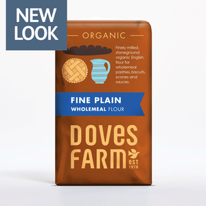 Doves Farm Organic Fine Plain English Wholemeal Flour 1kg