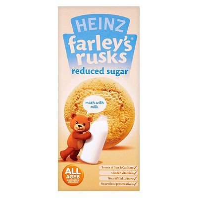 Heinz Farley's Rusks Reduced Sugar 150g 4-6 Months+