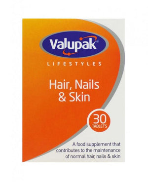 Valupak Hair Nails & Skin Vitamins | 30 Tablets