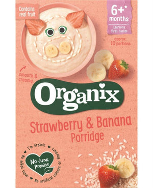 Organix Strawberry & Banana Porridge 6+ Months