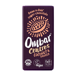 Ombar Centres Coconut & Vanilla Chocolate Bar 35g