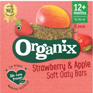 Organix Strawberry & Apple Soft Oaty Bars 12 Months+ 6 x 30g