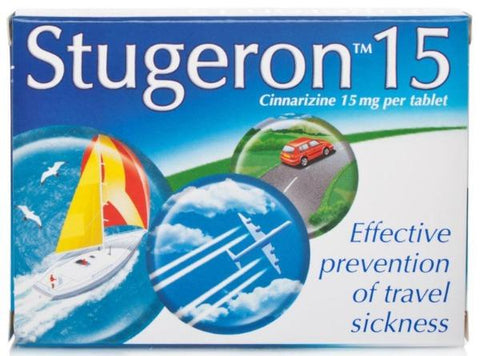 Stugeron 15 Travel Sickness Tablets