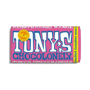 Tony's Chocolonely White Chocolate Raspberry Popping Candy Bar 180g