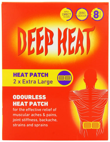 Deep Heat Pain Relief Odourless Back Patch - 2 Large Patches