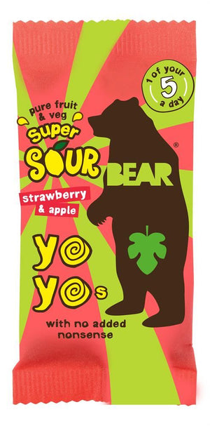 BEAR BEAR Super Sour Strawberry & Apple Yoyo 20g