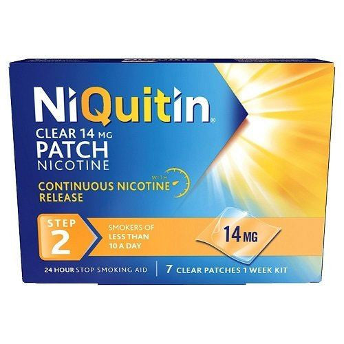 NiQuitin Clear 14mg 24 Hour Step 2 7 Clear Patches |