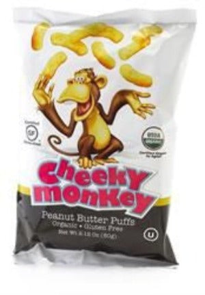 Cheeky Monkey Organic Peanut Butter Puffs 60 g