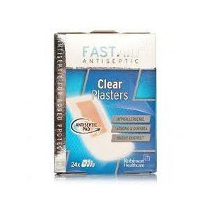 Fastaid+ Plasters Clear 24