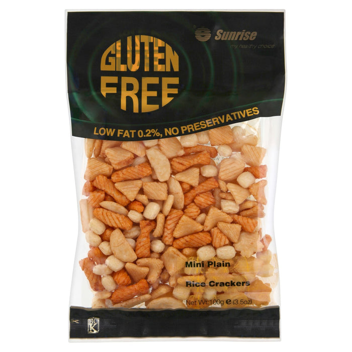 Sunrise Gluten Free Mini Plain Rice Crackers 100g