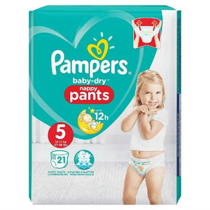 Pampers Baby-Dry Pants Size 5 Carry Pack | 21 Nappies
