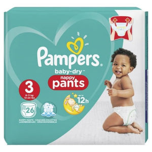 Pampers Baby Dry Pants Size 3 | 26 Pack