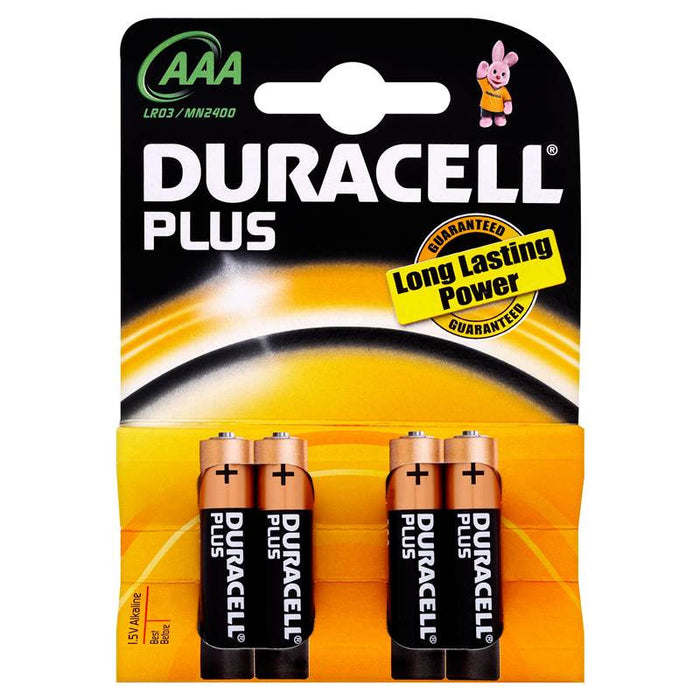 Duracell Plus AAA 1.5V Alkaline Batteries x 4