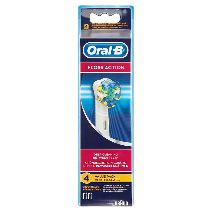 Oral-B Floss Action 4 Replacement Brush Heads