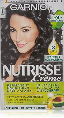Nutrisse Creme Permanent Hair Colour 1 Liquorice Black