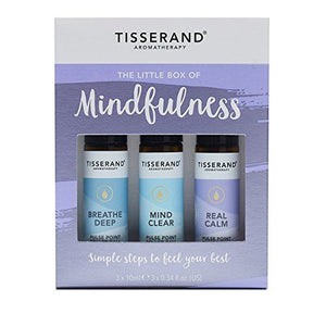 Tisserand Little Box Of Mindfulness. 3 x 10ml Rollerballs