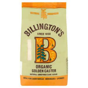 Billington's Organic Golden Caster Natural Unrefined Cane Sugar 500g
