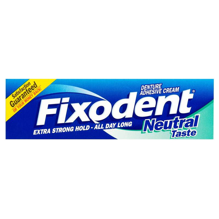 Fixodent Denture Adhesive Cream Neutral Taste 47g