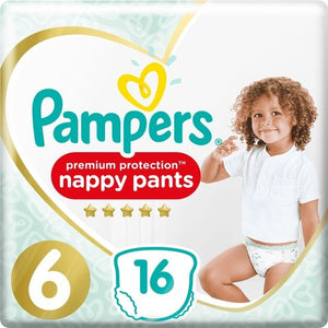 Pampers Active Fit Nappy Pants Size 6 | 16 Pack