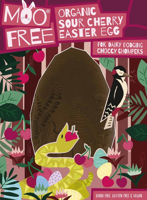 Moo Free Organic Sour Cherry Vegan Easter Egg 215g