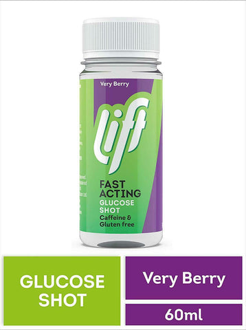 Lift Fast Acting Glucose Shot Berry Burst Flavour 60ml | Previously Glucojuice