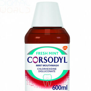 Corsodyl Fresh Mint Mouthwash 600ml | Alcohol Free