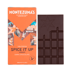 Montezuma's Dark Chocolate Spice It Up with Fiery Ginger 100g