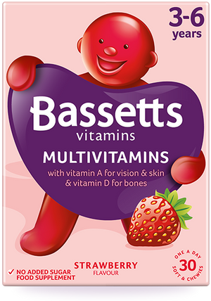 Bassetts 3-6 Years Multivitamins Strawberry Flavour | 30 Pastilles