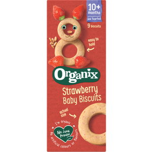 Organix Strawberry Baby Biscuits 10 Months+ 54g