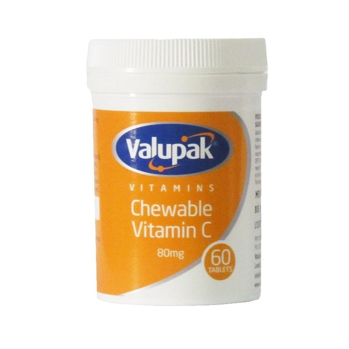Valupak Vitamin C 80mg | 60 Chewable Tablets