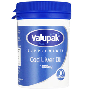 Valupak Cod Liver Oil 1000mg | 30 Capsules